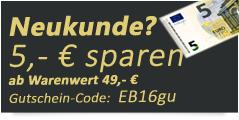 Hinweis auf einmalig benutzbaren Gutscheincode